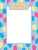 Birthday frame — Stock Vector