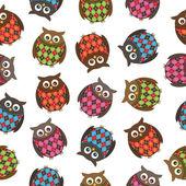 Harlequin owls — Stock Vector