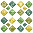 Green icons set 1 - Stock Vector
