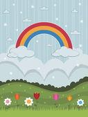Regenbogen — Stockvektor