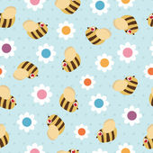 Bees and flowers — Stock Vector