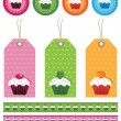 Cake tags — Stock Vector