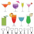 Cocktails — Vector de stock