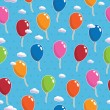 Balloon pattern seamless — Stock vektor