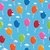 Balloon pattern seamless — Stock Vector