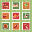 Mexican stamps — Image vectorielle