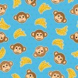 Monkey pattern seamless - Stock Vector