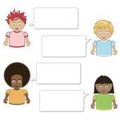 Kids speech — Stock Vector