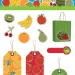 Fruit items - Stock Vector