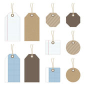 Paper tags — Stock Vector