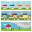 House banners — Stock Vector