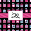Birthday gifts wrapping — Vector de stock