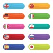 Flag tabs — Stock Vector