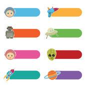Guias de ficção científica de crianças — Vetorial Stock