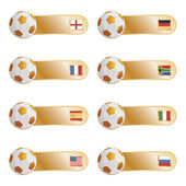 Football flag tabs — Vector de stock