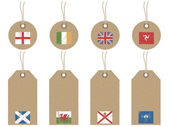 British isles flag tags — Stock Vector