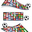 Royalty-Free Stock Vector Image: Football flag banners