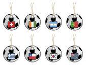 Football flag tags — Stock Vector