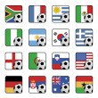 Football flag icons — Stock Vector