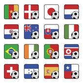 Football flag icons — Stock Vector