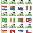 Football flags — Stock Vector
