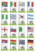 Football flags — Stock Vector
