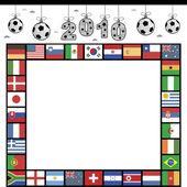 Marco de fútbol bandera — Vector de stock
