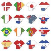Tshirt flags — Stock Vector