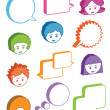 Kids with speech bubbles — Stock Vector