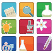 Royalty-Free Stock Vector Image: Science icons