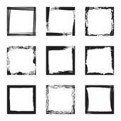 Blank grunge frames — Stock Vector