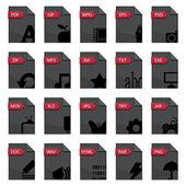 Rozszerzenia plików — Wektor stockowy