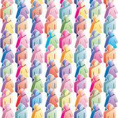 Seamless population — Stock Vector