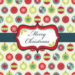 Red blue and green christmas wrapping - Image vectorielle