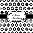 Stock Vector: Black and christmas wrapping