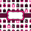 Stock Vector: Black and pink gift wrapping