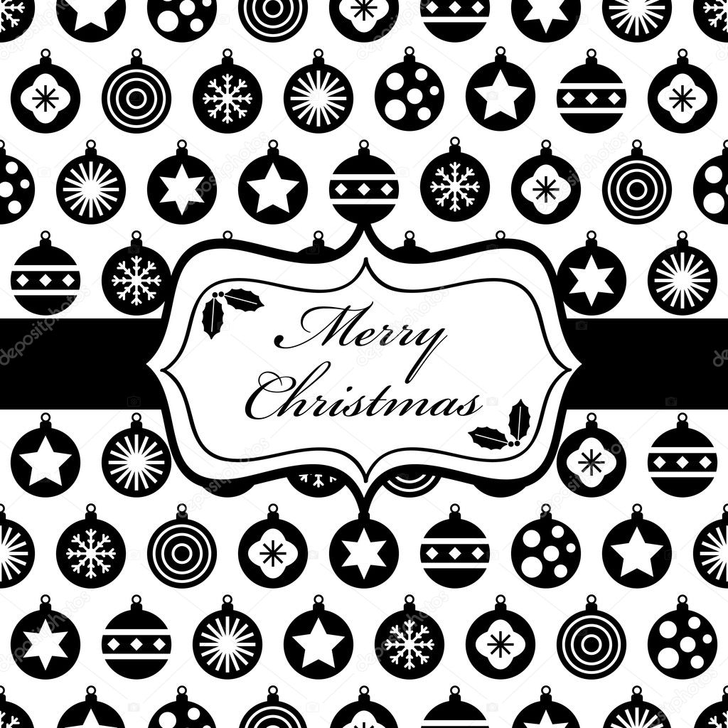 Black and christmas wrapping stock illustration