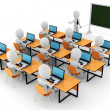 3d man  - classroom - Stock Photo
