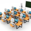 3d man - classroom — Stock Photo