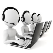 3d man - call center — Stock Photo