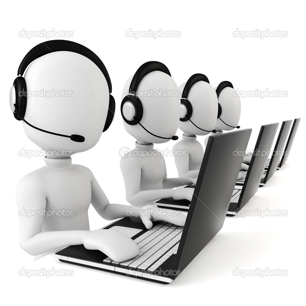 3d man - call center — Stock Photo #2968045