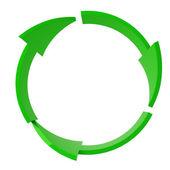 Zielony recykling symbol na białym tle — Zdjęcie stockowe