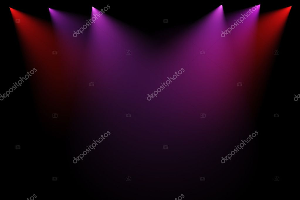 3d stage lights on black background — Stock Photo #3515240
