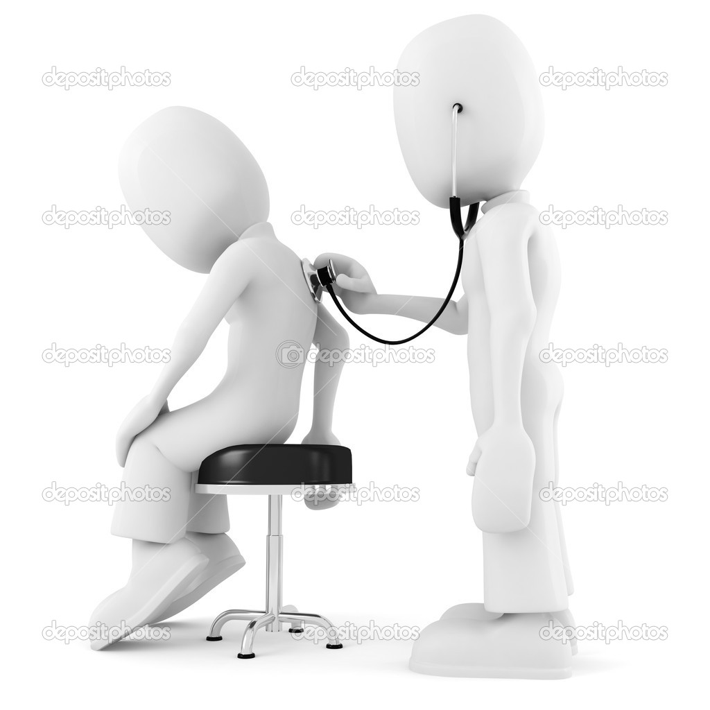 3d man - medical exam — Stock Photo #3601056