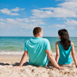 A couple on beach — Stock Photo #3272043