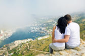 A couple on mountain — Stock Photo