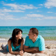 A couple on beach — Stock Photo