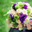 Stock Photo: Bridal bouquet on wedding day