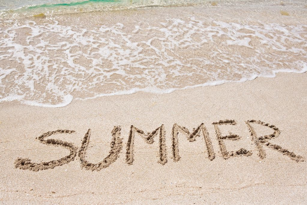 Summer written on the sand — Stock Photo #3679818