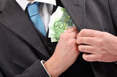 Paying in cash — Stock Photo